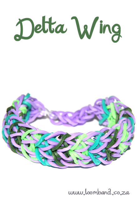 Delta wing loom band bracelet tutorial