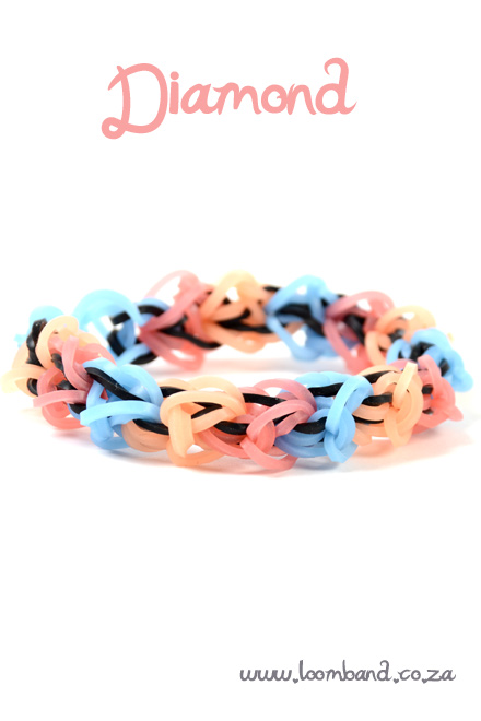Diamond loom band bracelet