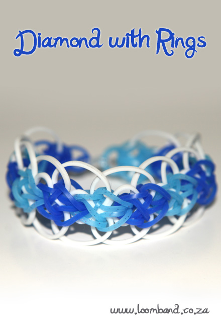 diamond with rings bracelet