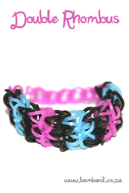 double rhombus bracelet loom band