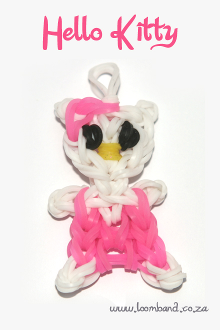 Hello kitty loom band tutorial