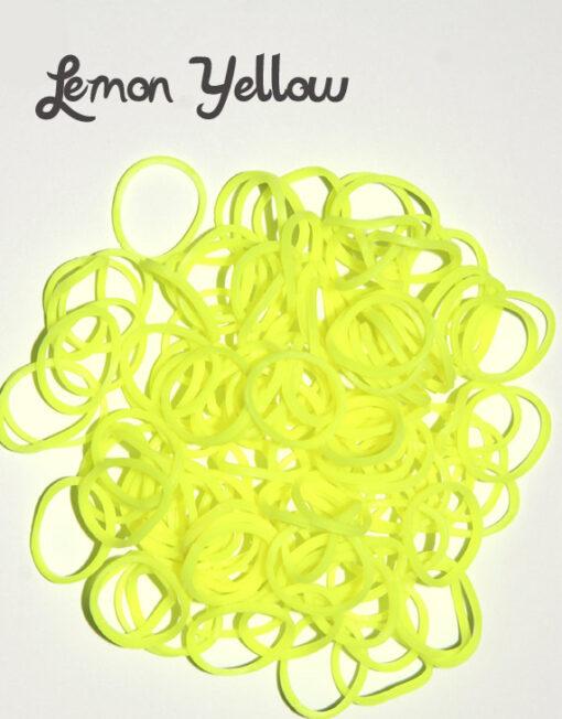 Lemon Yellow Loom Rubber Bands