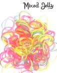 mixed jelly loom bands rubber