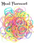 Mixed Fluorescent Loom Rubber Bands