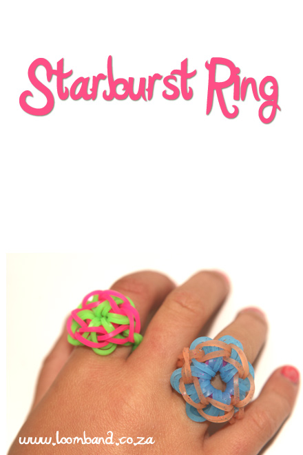 starburst ring loom bracelet tutorial