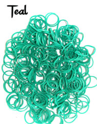 Teal Loom Rubber Bands