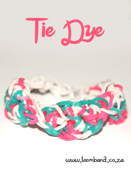 Tie dye loom band bracelet tutorial