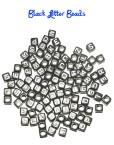 Black letter beads