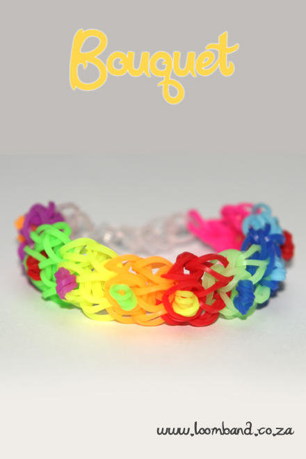 bouquet loom band bracelet tutorial