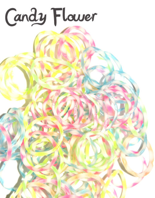 candy flower loom bands rubber