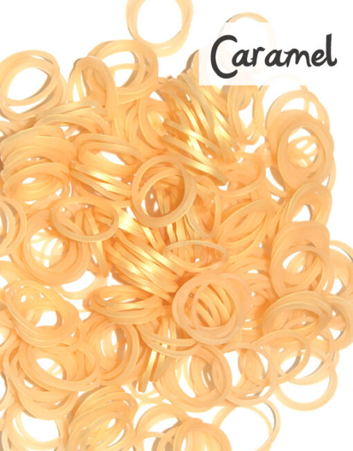 Caramel Loom Silicone Bands