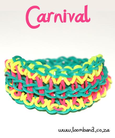 Carnival loom band bracelet