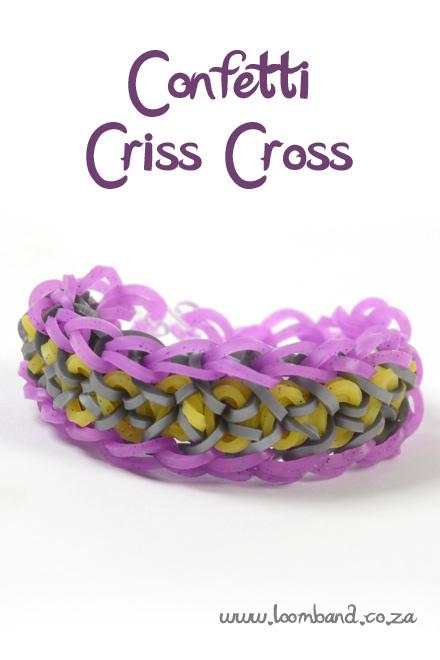 Confetti criss cross bracelet