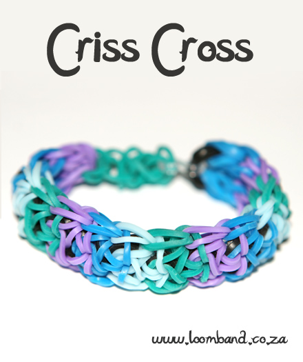 Criss cross loom band bracelet tutoria