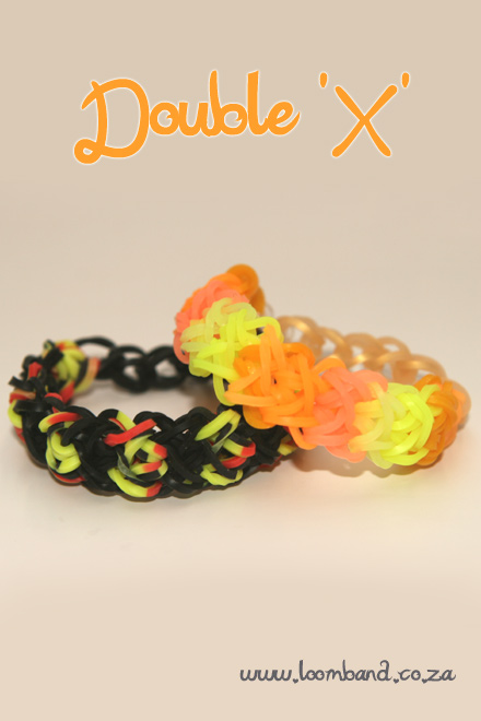 Double x loom band tutorial