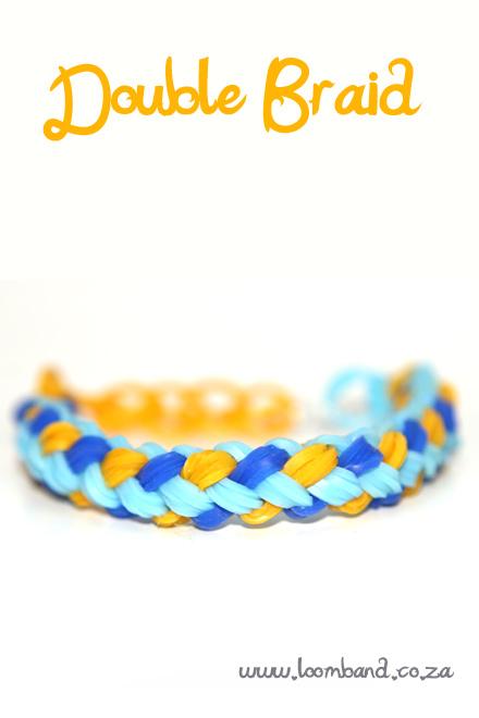 Double Braid Rainbow Loom Bracelet Tutorial
