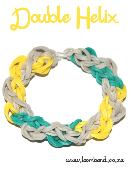 Double helix loom band bracelet tutorial