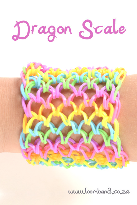 dragon scale bracelet loom bands