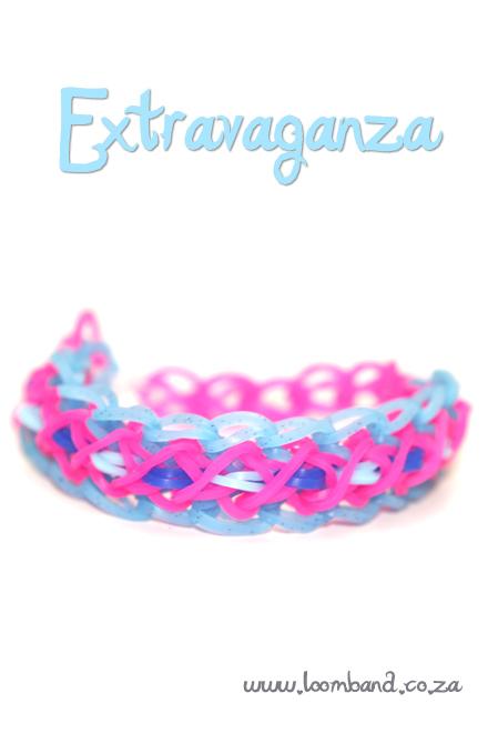 Extravaganza Loom Band bracelet tutorial