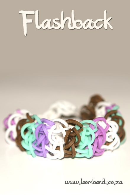 flashback loom band bracelet tutorial