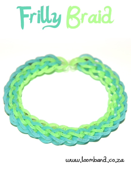 Frilly braid loom band bracelet tutorial