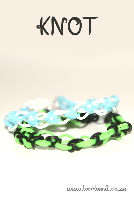 Knot loom band bracelet tutorial
