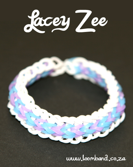 Lacey zee loom band bracelet tutorial