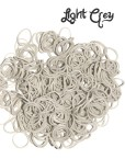 grey loom rubber bands