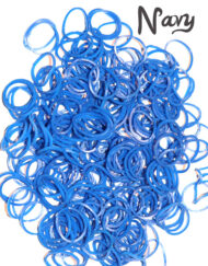 Navy Blue Loom Rubber Bands