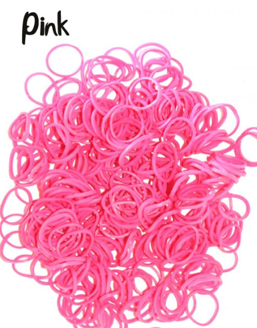pink rubber loom bands