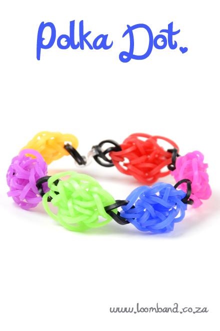 polka dot bracelet loombands