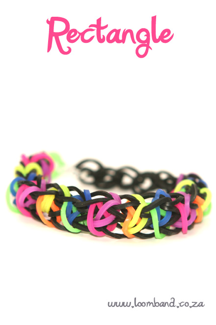 Rectangle loom band bracelet tutorial