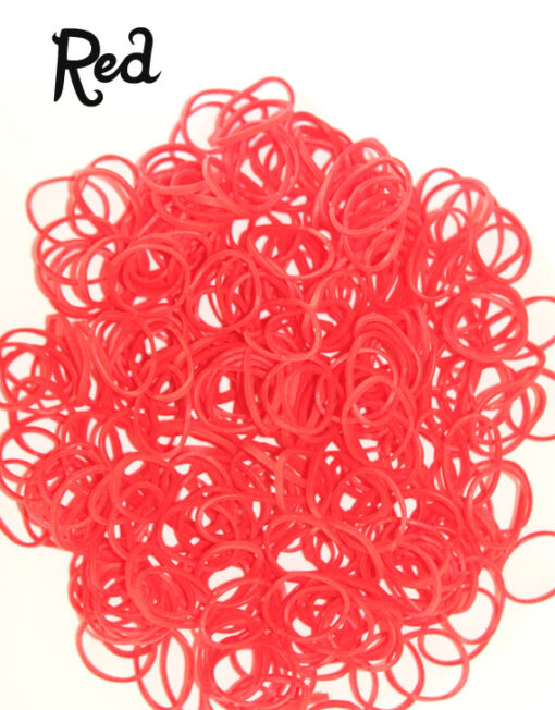 Red Loom Rubber Bands