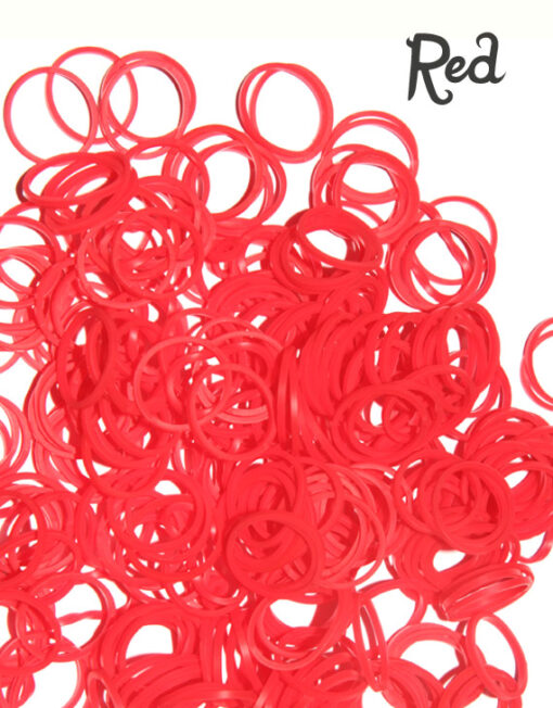 red silicone loom bands