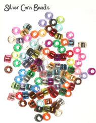 Silver corn beads