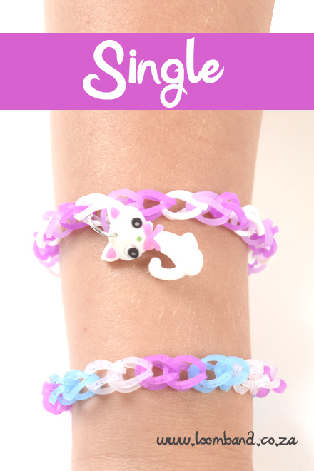 single loom band bracelet