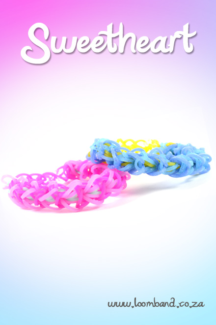 sweetheart loom band bracelet tutorial
