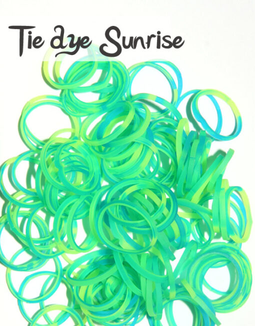 Tie dye Sunrise Silicone Bands