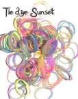 Tie dye Sunset Silicone Bands