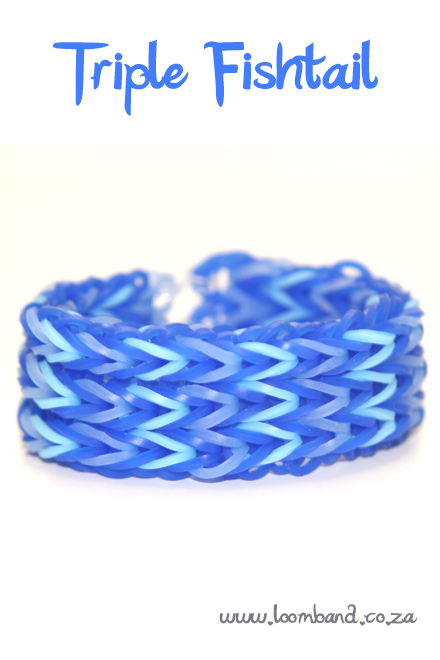 triple fishtail loom band bracelet tutorial