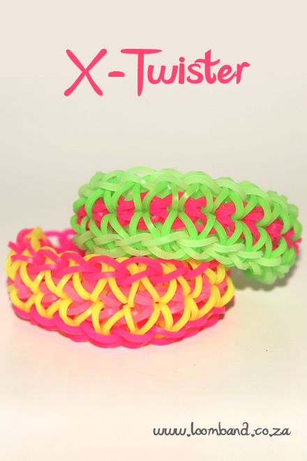 X Twister Loom Bracelet tutorial