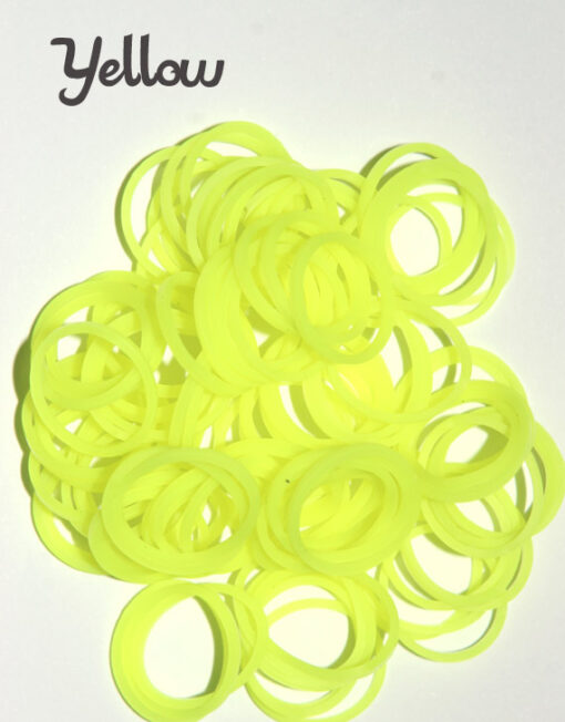 Yellow Loom Silicone Bands