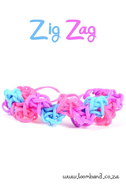 zig zag loom band bracelet