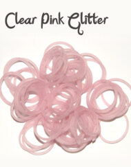 Clear Pink Glitter Silicone Bands