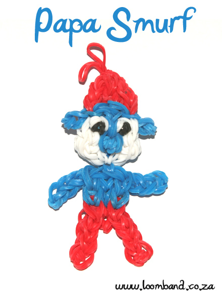 Papa Smurf loom band figurine tutorial
