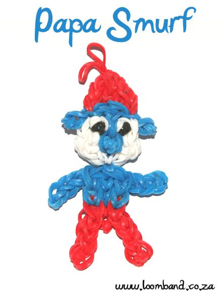 Papa Smurf loom band figurine tutorial