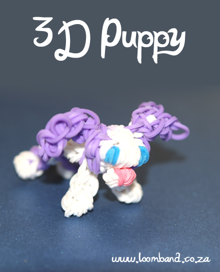 3d puppy loom band figurine tutorial