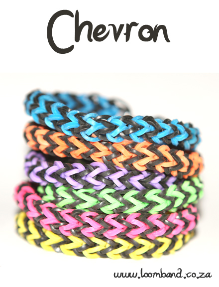 chevron loom band bracelet tutorial