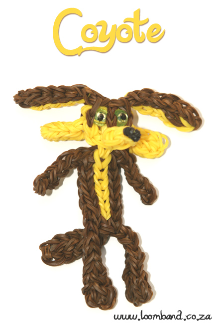 coyote loom band figurine tutorial