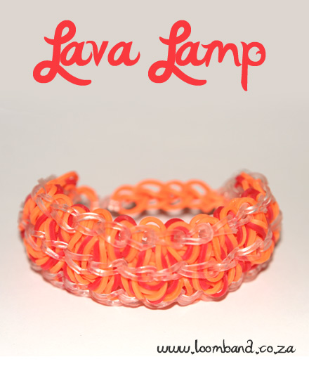 lava lamp loom band bracelet tutorial